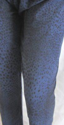 Leggings Gr. 36 handgemacht aus Jersey in Blau Schwarz kaufen