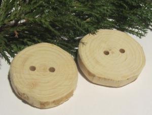 Knöpfe handgemacht aus Wacholderholz unbehandelt kaufen