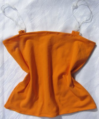 Top Gr. 34 handgenäht aus Baumwolljersey in Orange kaufen