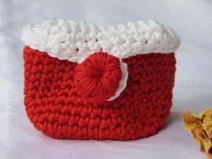 Bad Utensilo handgehäkelt aus Baumwolle in Rot kaufen