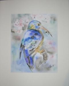 Aquarell aus der Serie Vögel handgemalt mit Aquarellfarben auf Aquarellpapier direkt von der Künstlerin das Original kaufen