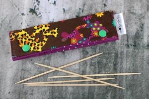 Needle Cozy Purple Sculls Nadelgarage für 15 cm Nadelspielhalter Nadelspieltasche DPN Holder