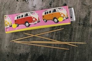 Needle Cozy Bulli Liebe Nadelgarage für 15 cm Nadelspielhalter Nadelspieltasche DPN Holder
