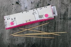Needle Cozy Lamas Nadelgarage für 15 cm Nadelspielhalter Nadelspieltasche DPN Holder