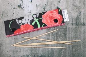 Needle Cozy Sculls Nadelgarage für 15 cm Nadelspielhalter Nadelspieltasche DPN Holder