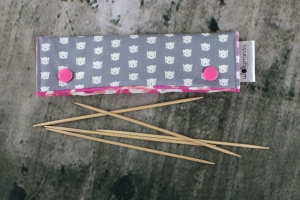 Needle Cozy Cats Nadelgarage für 15 cm Nadelspielhalter Nadelspieltasche DPN Holder