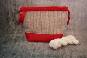 Projekttasche Fieldbag Maschen Handarbeitstasche