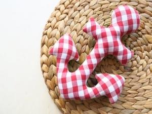 Babyrassel: Anker Jacob aus gemustertem Baumwollstoff - Handarbeit kaufen