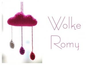 Gehäkeltes Mobile - Wolke Carl & Romy
