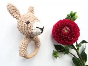 Liebevoll gehäkeltes Lama - Greifling & Beißring