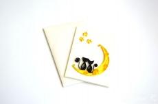 Quilling Karte / Valentinsgruß-Tageskarte / Halloween / 3d Karte / Katzen in der Liebe / Katzen auf Mondschein / ich liebe dich / Grußkarte / handgemachte Karte / wedding