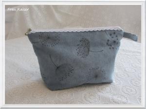 Kosmetiktasche Größe M (mittel) Kulturtasche Waschtasche Blau Pusteblumen