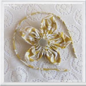 Haarreifen & Haarblüte (mit Clip) Blätter Gelb im Set