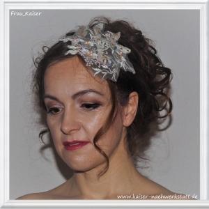 Brautschmuck Haarschmuck Headpiece Spitze Rosa Mint Gold