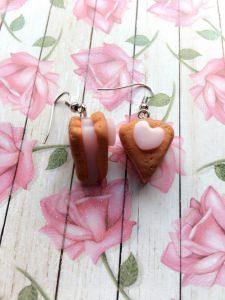 Herzchen Kuchen Ohrringe