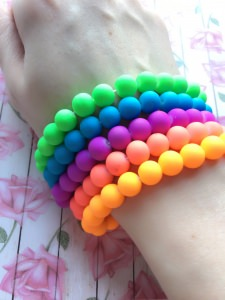 Neon Rainbow Rubber Band