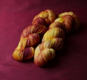 Sockenwolle HighTwist 4-fach, Gelb-Brodeux