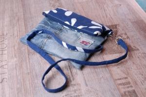 Upcycling ★kleines ÜberschlagTäschchen - Canvas trifft Jeans★ Unikat