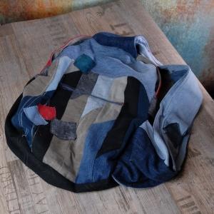 Upcycling ★Jeans Streifen Cross-Over Rucksack★ Unikat