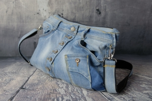 Upcycling ★ Schräge Jeans - HosenTasche ★ Unikat