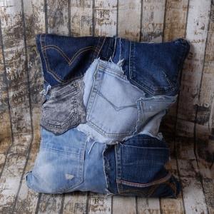 Upcycling ★Jeans Hosentasche trifft Kissen★ Hingucker auf der Couch UNIKAT