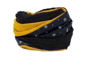 Stillschal XL Loopschal Loop Schal schwarz senfgelb XXL Loopschal Damen Geschenk zur Geburt