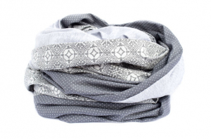 grauer Loop extrabreit / Stillschal - Handarbeit kaufen