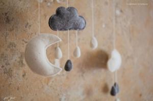 Babymobile aus Filz, Wolkenmobile ♥ dream ♥, Geburt, filZeit, Taufe