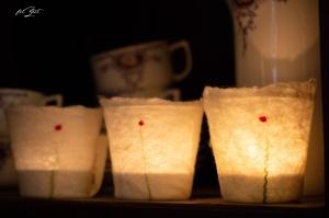 3 Stück Windlichter,Kerze, Laterne, Teelicht, Beleuchtung, Kerzenständer, Filzlicht, filzeit