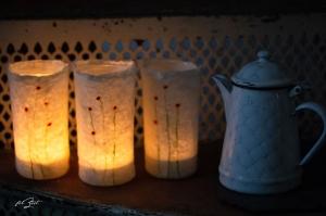 3 Stück Windlichter ♥ Blumenwiese ♥ aus Filz ,Kerze, Laterne, Teelicht, Beleuchtung, Kerzenständer, Filzlicht, filzeit