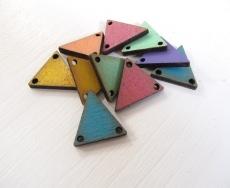 Bunte Dreieck Holz Schmuckelemente Triangle Anhänger Perlen