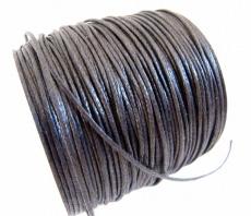 Stabile Baumwollkordel gewachst 1 mm schwarz 10 m