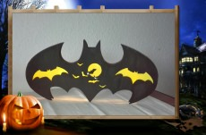 Dekorative Lampe im Batman Design