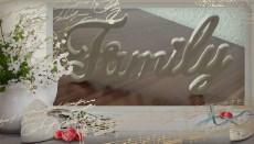 Dekorativer Schriftzug Family