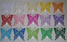 gestanzte und geprägte Schmetterlinge in Wunschfarbe