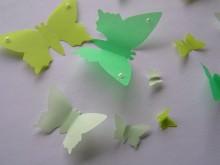 12 handgestanzte Schmetterlinge