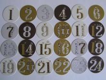 Adventskalender - Papiertüten/Zahlen/Kordel