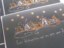 5 dekorierte Weihnachtskarten -Einzelset-