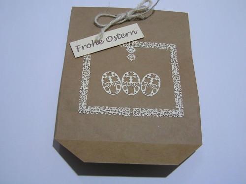 österlich dekorierte Geschenktüte -Einzelstück-