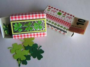 2 handdekorierte Geschenkschachteln/Streichholzschachteln