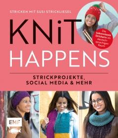 """das Susi Strickliesel """"Knit happens"""" Buch/wahlweise mit Widmung"""