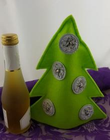 Weihnachtsbaum aus Filz mit Kaffeekapseln ♥Upcycling♥ hellgrün Sonderedition