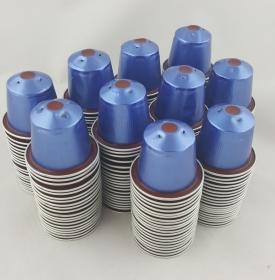 Kaffeekapseln leer & gesäubert 200 Stück blau/rot *Vivalto Lungo