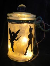 Windlicht Feen-Glas Elfenträume aus dem Märchenreich