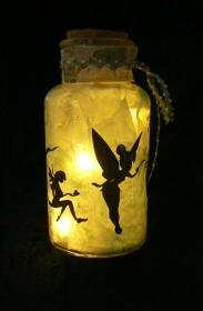 Windlicht Feen-Glas Elfenzauber aus dem Märchenreich