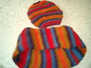 Mütze gestrickt aus feinsten Alpaka