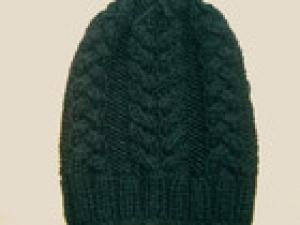 Luxus für Mann und Frau Mütze handgestrickt aus 100% Wolle, Schwarz