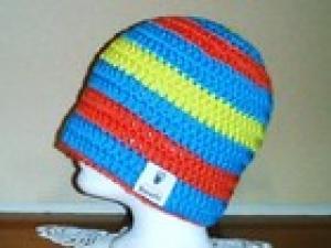 Hochwertige Skimütze, Boschi, Wintermütze, Häkelmütze, 100% Wolle