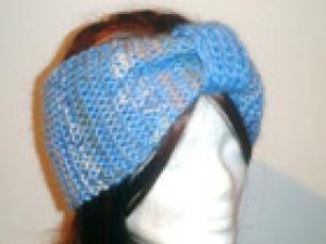 Stirnband gestrickt aus Angorawolle, sportlich/elegant