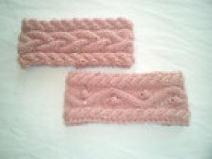 Stirnband gestrickt aus weicher Wolle Rose (Kopie id: 100147989)
